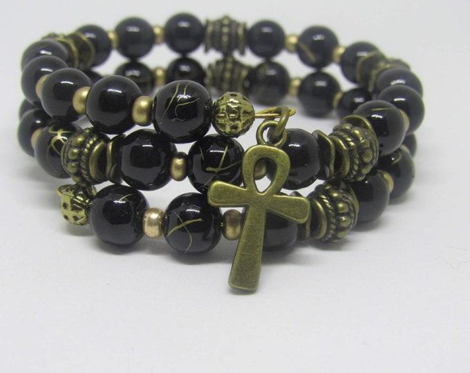 Ladies Wire Wrap beaded bracelets