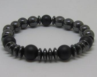 Men's Hematite Flex Energy Bracelet