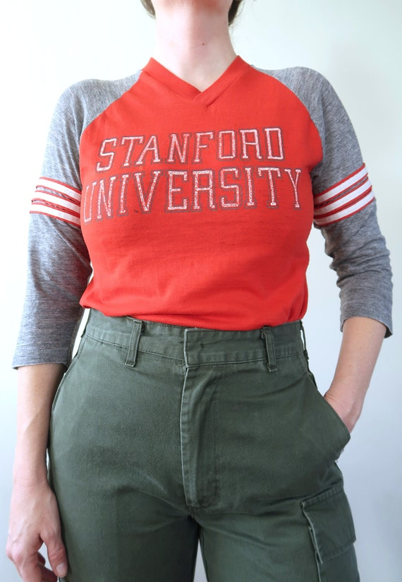 Vintage 80s Raglan Stanford University Threadbare
