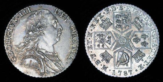 Antike Münze Echt Alte Englische George Iii Silber Schilling Etsy