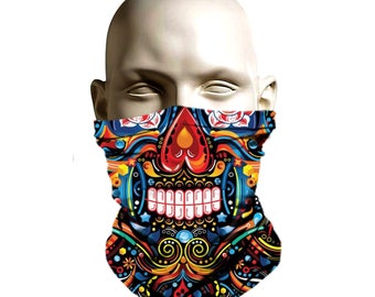 Winter Face shield for snowbording skiing and hunting - Aztec indian - ski  mask a531a486fb
