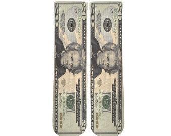 c880c7cef6f1 20 dollar bill - Unisex Men and Women crew socks -youth socks-boys and girl  socks
