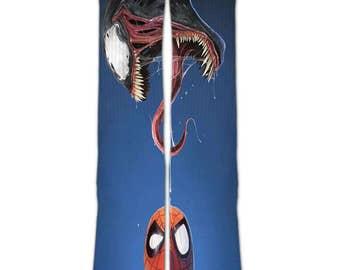 Spider man  Venom   customized elite socks - Unisex Men and Women tube socks   crew socks      full printed socks