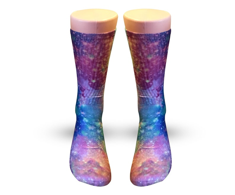 ab7f6c76474 Pink galaxy custom elite sockscrazy socks for girlscrazy