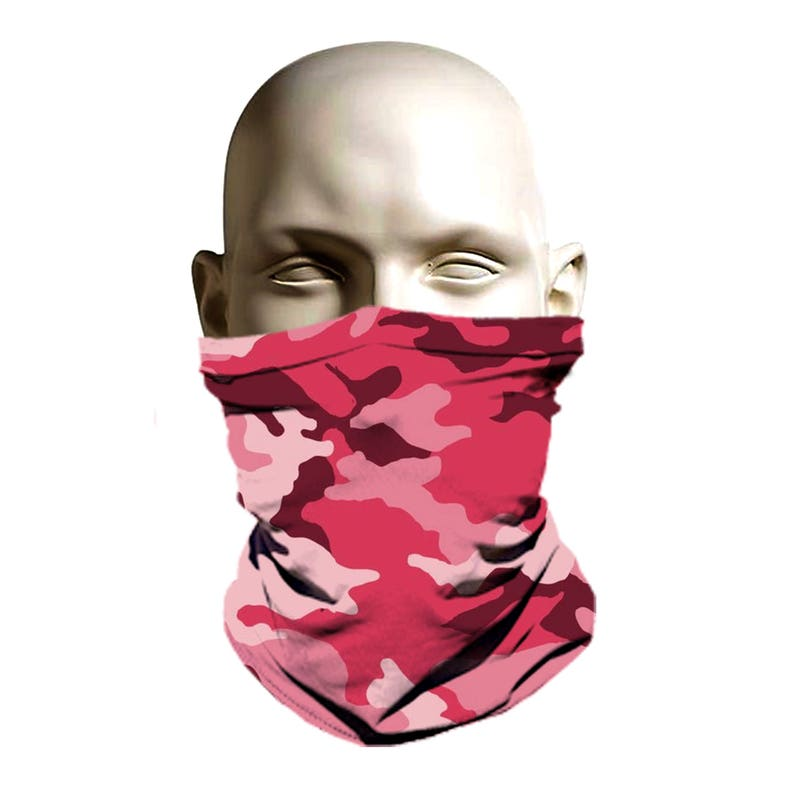 Pink Camo Ski mask designski face coverski face protection  da517812590a