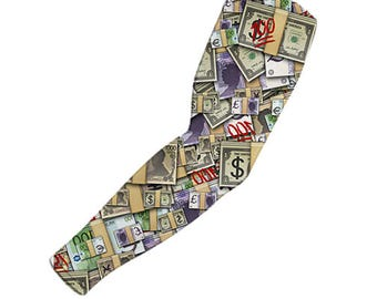 Emoji Money arm sleeves |  design printed arm sleeve's | compression arm sleeve | Sports sleeve | arm warmer | active wear | bike accessory