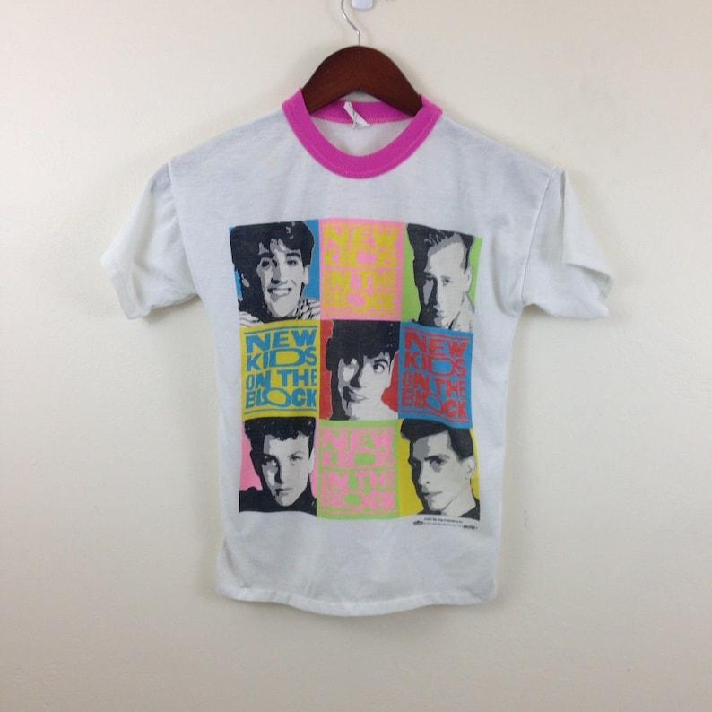 0e88ff498 Vintage 1990 New Kids On The Block Pink Ringer T Shirt   Etsy