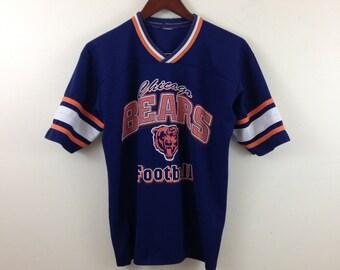 Vintage 70s/80s Chicago Bears NFL Football Jersey T Shirt - Size Medium