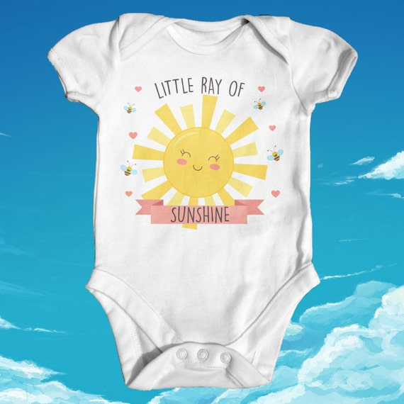 Bee Happy Babygrow Bumble Cute Smiliey Baby Gift Slogan Clothing
