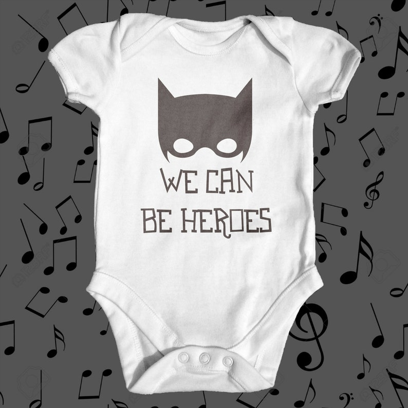 0a0a13f02fc Heroes David Bowie Parody Baby Bodysuit Cute Baby Clothes