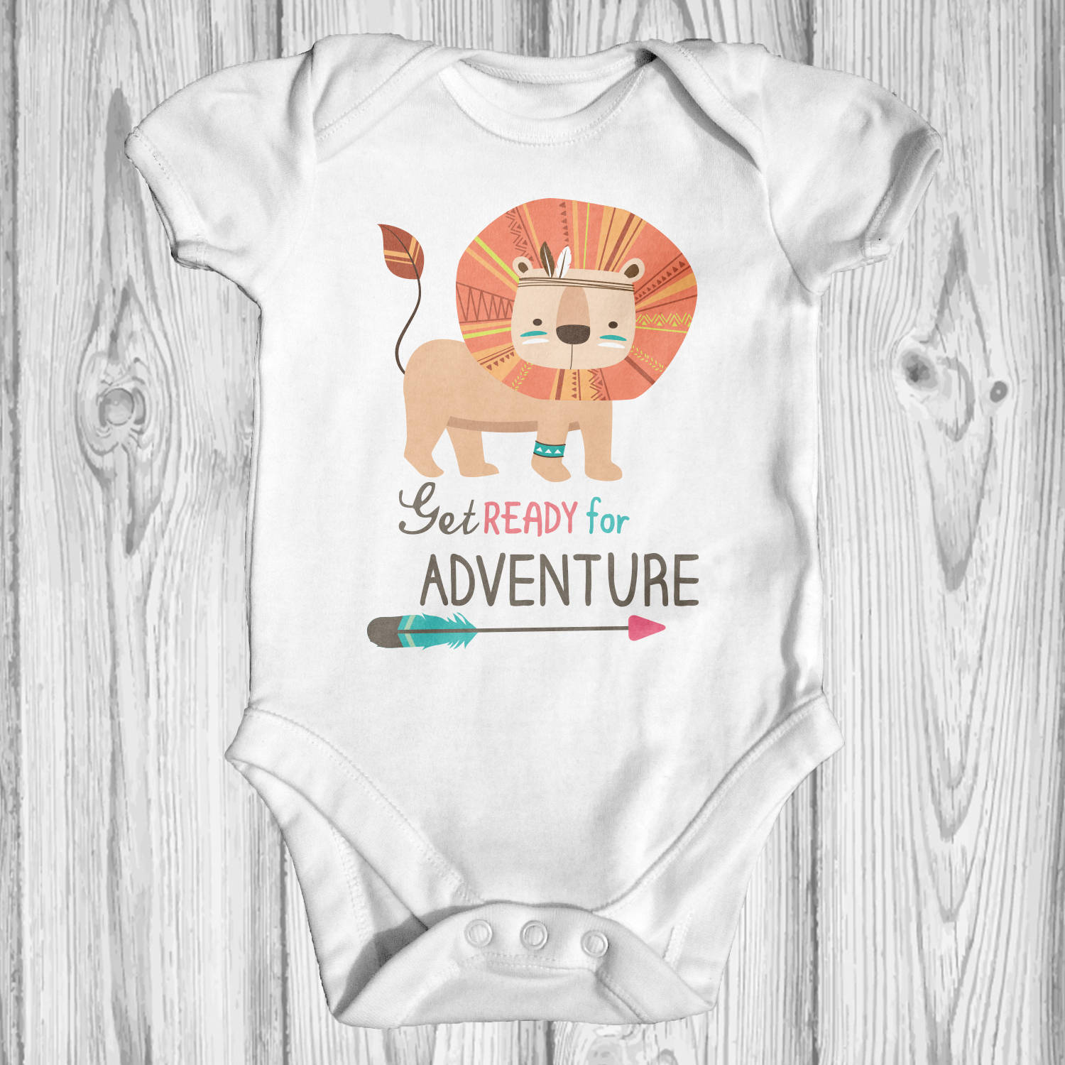 Get Ready For Adventure Baby Bodysuit Animal Baby Clothes
