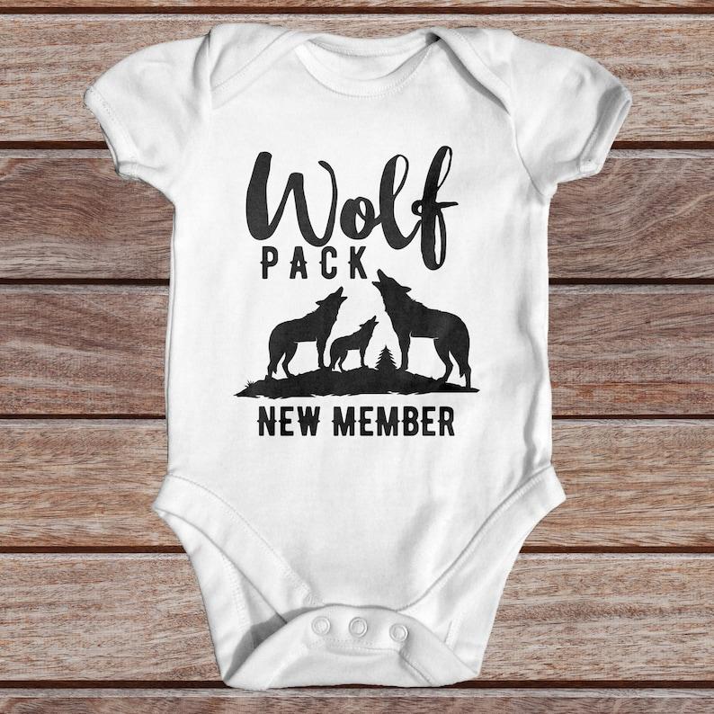 fc56b8ddb Wolf Pack New Member Baby Bodysuit Animal Baby Bodysuit