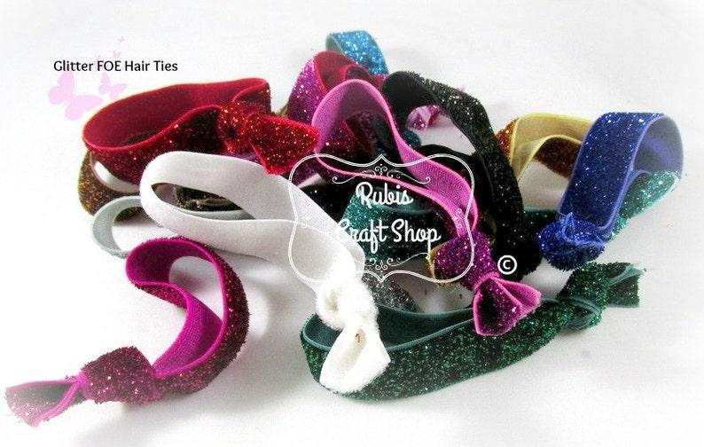 DIY -Baby Headband -Gift Elastic by The Yard Black Fold Over Elastic 58/'-Glitter Elastic,FOE- Headband Supplies Elastic Hair Tie