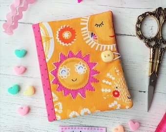 Handmade Needlebook - Sunshine/Summer/Pink/Yellow/Turquoise - Sewing/Embroidery.