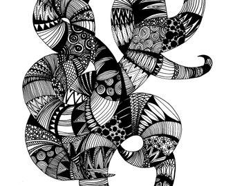 Zentangle swirl