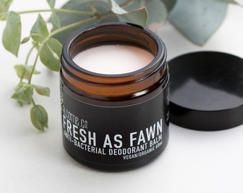 ORGANIC Deodorant Balm / Vegan Natural Aluminium Free / FRESH As FAWN / 60 ml [ 5 Star Reviews ] Handcrafted in Australia