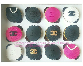 Cupcake Toppers | Customized Cupcake Toppers | Name and Age Toppers | Cupcakes | Birthday | Chanel Toppers | Sports Toppers | Emoji | MK