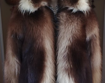 af677a5c10b1 Wolverine Fur Jacket Unisex ML Stunning One Of A Kind