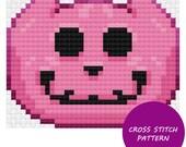 Pink Jack-O-Lantern Cross...