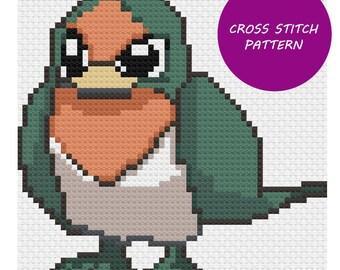 Shiny Taillow cross stitch pattern