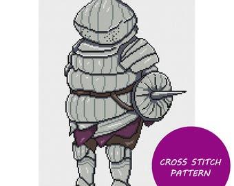 Dark Souls Onionbro cross stitch pattern
