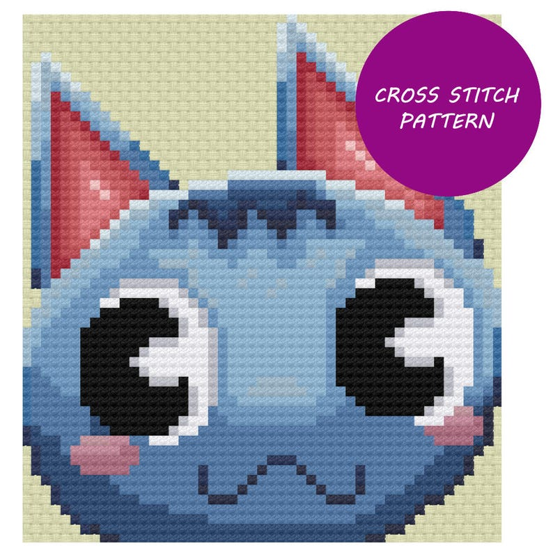Rosie  Animal Crossing Cross Stitch Pattern image 0