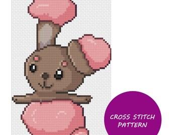 Shiny Buneary cross stitch pattern