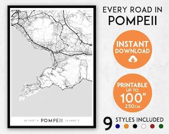 Campania map | Etsy