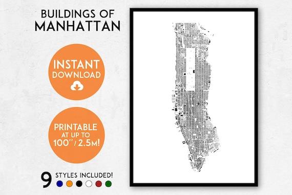 manhattan map print printable new york map print manhattan