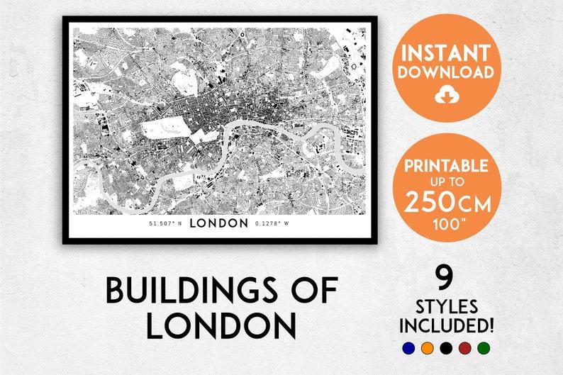 England Map London.London Map Print London Print London City Map Uk Map London Poster London Wall Art Map Of London London Art Print England Map