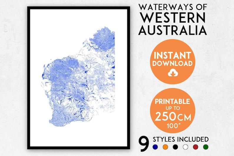 Map Of Western Australia Printable.Western Australia Map Art Printable Wa Map Print Western Australia Print Western Australia Art Western Australia Poster Perth Map Print