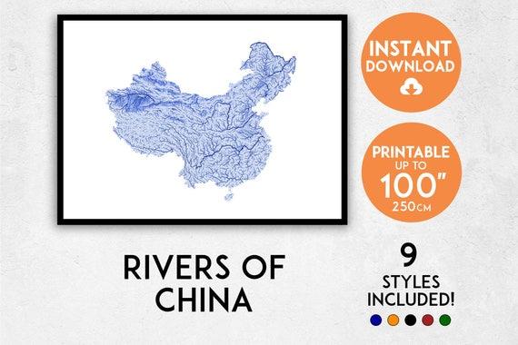 China Map Poster.China Map Print China Print China Map China Poster China Etsy