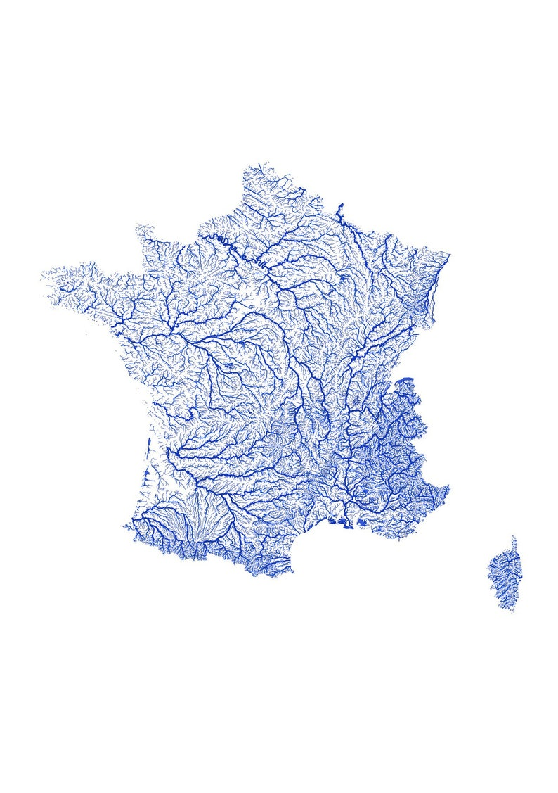 Map Of France To Print.Rivers Of France Print Physical France Map Print France Poster France Art France Map Art France Wall Art France Gift Map Of France