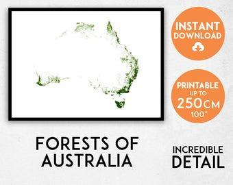 australia map print australia print australia poster australia wall art map of
