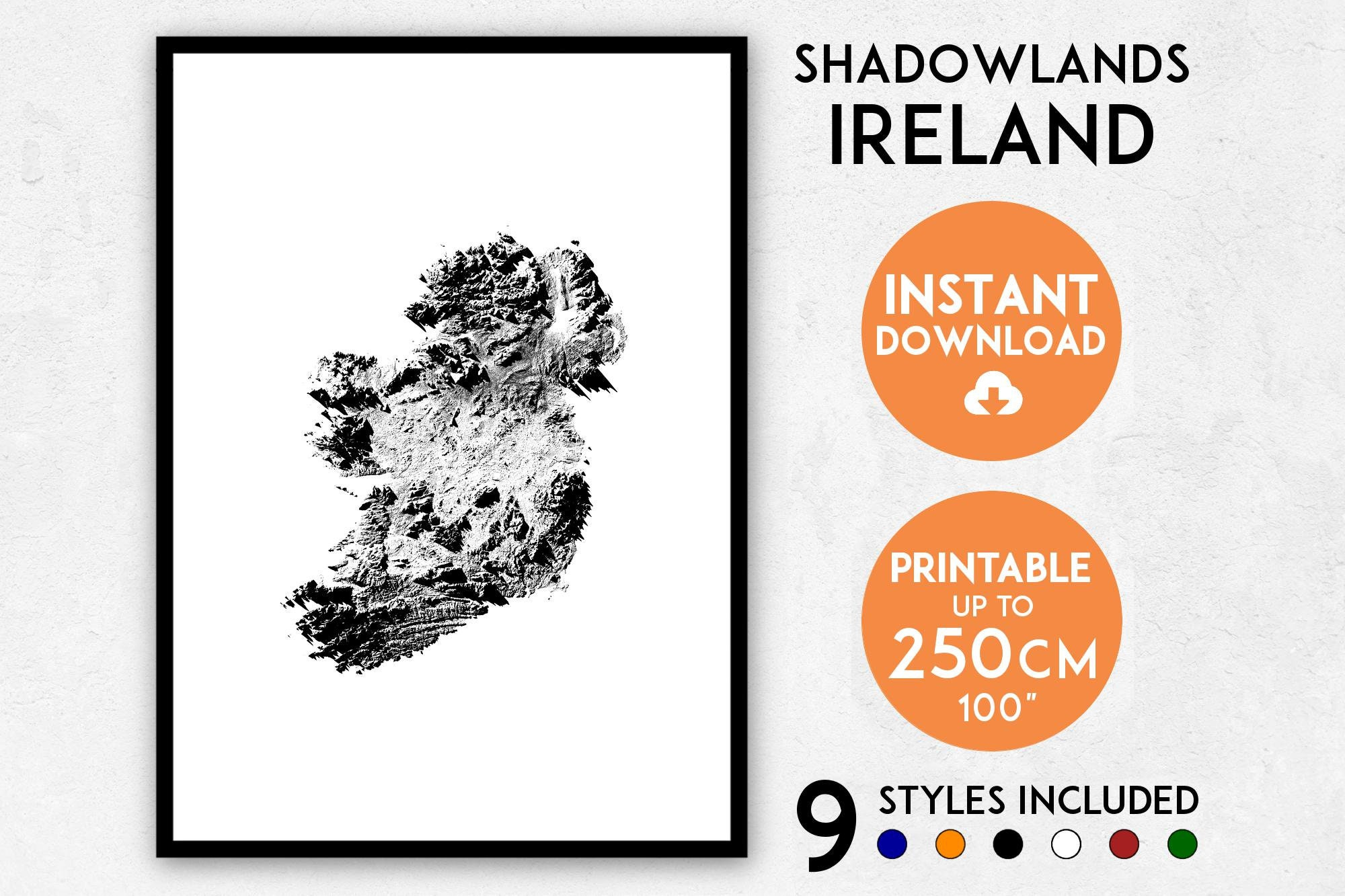 Map Of Ireland Print.Ireland Map Print Ireland Print Ireland City Map Ireland Etsy