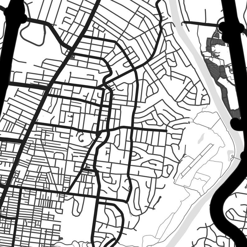 Nashville city map Nashville print Every Road in Nashville map poster Nashville poster Nashville map print Tennessee print