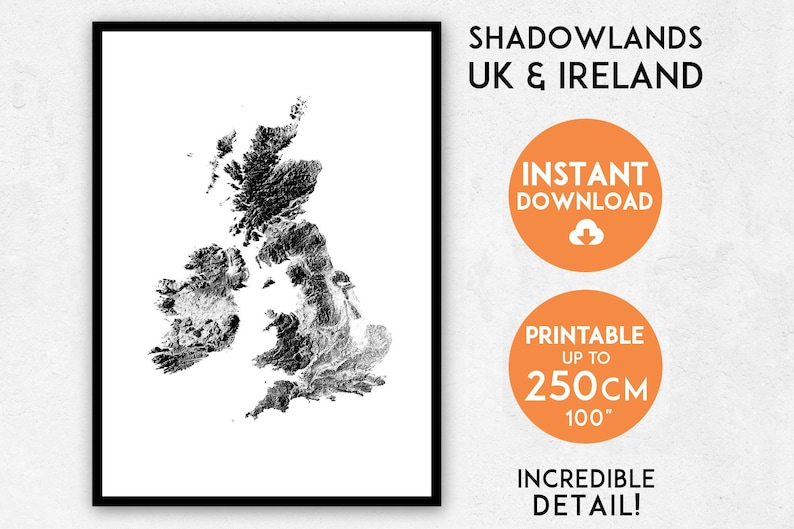 image regarding Printable Map of Uk and Ireland identify Shadowlands British isles Eire map print, British isles print, England map, England print, England wall artwork, British isles map, England poster map, Eire poster