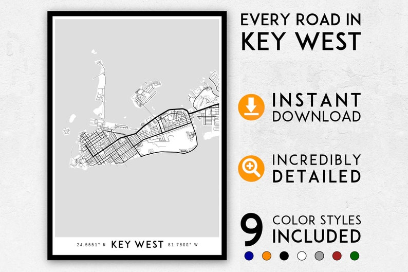 Key West map print, Key West print, Florida Keys map, Key West city Key West Road Map on davie road map, mayport road map, cape coral road map, seaside road map, key west road atlas, key west hotel map, key west city map, biloxi road map, key west bike map, minneapolis st paul road map, key west area map, spring hill road map, cabo san lucas road map, st. johns county road map, key west sightseeing map, east palatka road map, escambia county road map, key west district map, florida road map, palm bay road map,