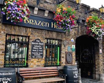 Brazen Head Pub print, Dublin Ireland photo, Ireland pub print, Pub art, Ireland photo, Ireland's oldest pub, Dublin Pub print, Bar art