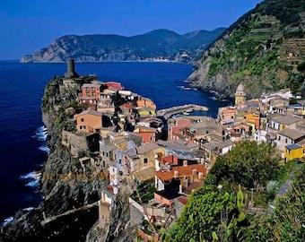 Cinque Terre Italy photo, Vernaza Italy photo, Classic Italian villages, Italy wall decor, Liquria Italy photo, Mediterranean art print