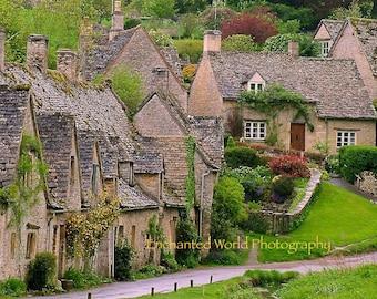 Cotswolds England photo, Bibury village print, England photography, English village photo, English landscape print, England gift