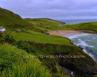 Ireland photography, Irish landscape, Donegal Ireland, Wild Atlantic Way, Irish farm print, Irish gift, Ocean landscape