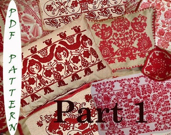 16 Hungarian Transylvanian vintage embroidery patterns