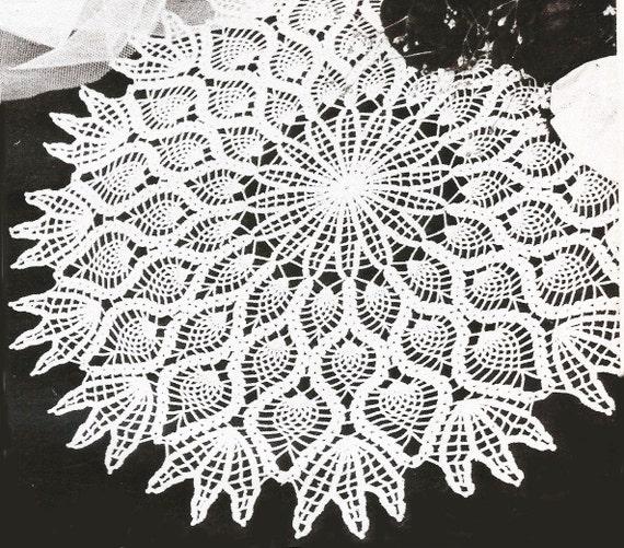 Vintage Crochet Pineapple Doily Pattern Mandala Detailed Etsy