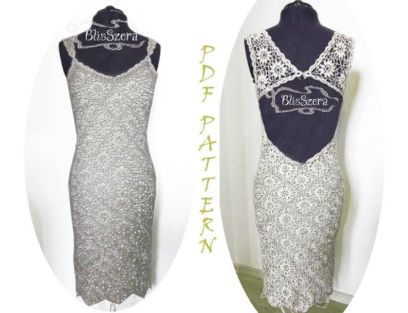Elegant Crochet Boho Wedding Dress Pattern Summer Evening Gown Prom Bohemian Plus Size Vintage Likepdf Pattern Detailed Description
