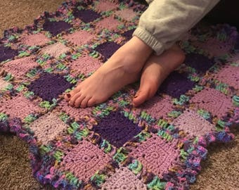 Purple Crocheted Rug