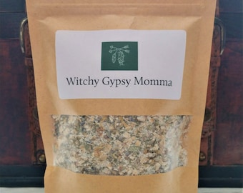 Magical Herbal Oat Milk Bath, Green Witch Self Care Ritual Bath Spell with Dried Herbs Milk Bath Salts and Oats Makes Great Mothers Day Gift