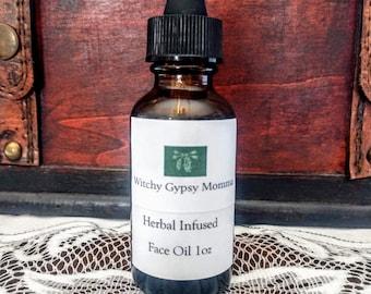 Herbal Infused Face Oil For All Skin Types, Dry Skin, Oily Skin, Mature Skin, Acne Prone Skin, Sensitive Skin, Facial Serum, Botanical Oil