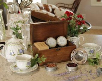 Herbal Tea Sampler with Wooden Gift Box