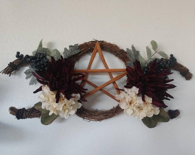 Featured listing image: Triple Moon Wreath, Goddess Wreath